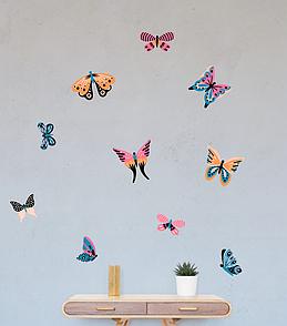 Набор декоративных наклеек на стены Разноцветные бабочки, 20 шт.
