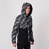 Чоловіча демісезонна куртка, чорно-білого кольору, фото 10