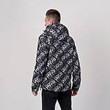 Чоловіча демісезонна куртка, чорно-білого кольору, фото 2