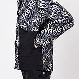 Чоловіча демісезонна куртка, чорно-білого кольору, фото 4