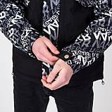 Чоловіча демісезонна куртка, чорно-білого кольору, фото 5