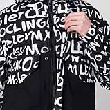 Чоловіча демісезонна куртка, чорно-білого кольору, фото 7