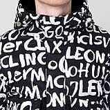 Чоловіча демісезонна куртка, чорно-білого кольору, фото 8