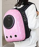 Рюкзак переноска для кошек и небольших собак с иллюминатором, фото 4