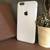 Чехол бампер silicone case для Iphone 6+ / 6s+ Белый . Силиконовый чехол накладка на айфон 6 Plus / 6s Plus