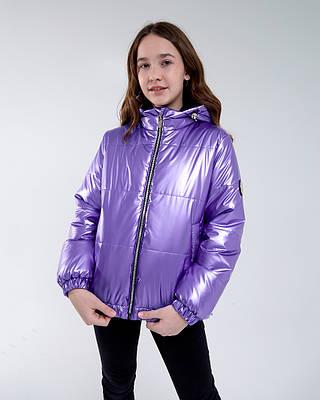 Ксюша фиолетовая куртка демисезон детская подростковая для девочки