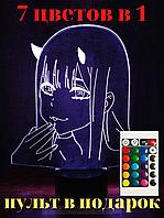 Ночник аниме. Светильник 3d аниме. Девушка