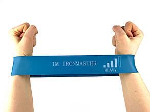 Фитнес резинка (лента сопротивления) для фитнесса лента эспандер 300*50 мм Черный Синий