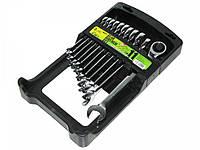 Набор ключей комбинированных, трещоточных 11 предметов, 8-19 мм. НК-2081-11 Alloid