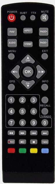 ПУЛЬТ РОМСАТ    T2050/T2070/T2090/Т2 mini (DVB-T2)
