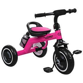 Велосипед  детский три кол.EVA,бутылка,наклад.на сид,ручка-переноска,малиновый