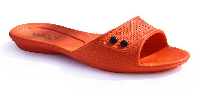 Тапочки женские оранжевые