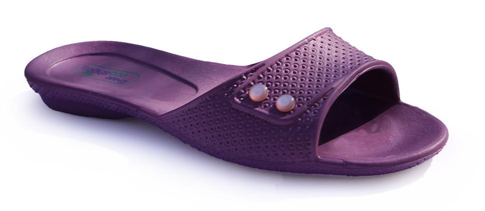 Женские босоножки шлепанцы фиолетовые