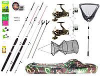 Новинка для рибалки! Вудилище класу Crocodile 2.7м з чохлом,садком та підсаком в повній комплектації