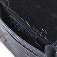 Діловий елегантний чоловічий шкіряний портфель ручної роботи з плечовим ременем, фото 10