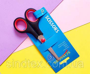 Ножницы офисные 13,5см с пластиковыми прорезиненными ручками (сп7нг-5693)