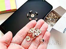 Кнопки гвоздики метал 9х10мм, 50шт (сп7нг-5668)