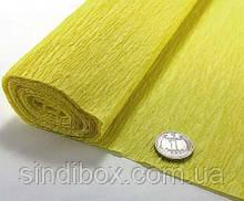 Креп бумага, жатка, гофробумага 50х250см (75гр/м), Жёлтый (сп7нг-5708)