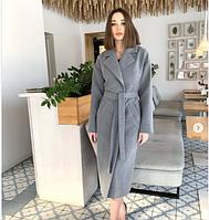 Длинное кашемировое демисезонное женское актуальное пальто с поясом