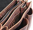 """Портфель-сумка через плече чоловіча шкіряна ручної роботи """"Листоноша"""". Колір коричневий, фото 3"""