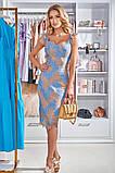 Женское трикотажное платье миди из гипюра голубое красное черное, фото 5