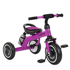 Велосипед  детский три кол.EVA,бутылка,наклад.на сид,ручка-переноска,фиолетовый
