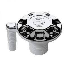 Горловина бака пластиковая, хром, 38 мм, вентилируемая