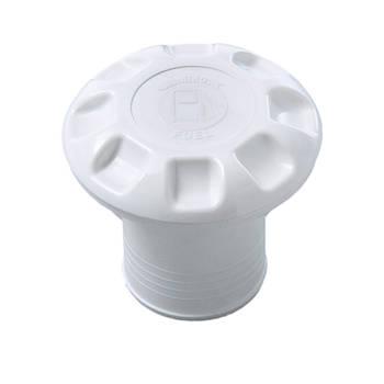 Горловина бака пластиковая, белая, 50 мм