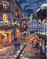 Картина малювання за номерами Міський пейзаж Зимове містечко 40х50 см Ідейка KHO3542 набір розпис на полотні
