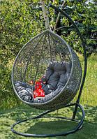 Садовое подвесное кресло качели кокон Gardy, подвесное кресло яйцо, кресло-качели,подвесные садовые качели