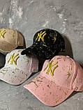 Женская бейсболка кепка NY с логотипом, фото 2