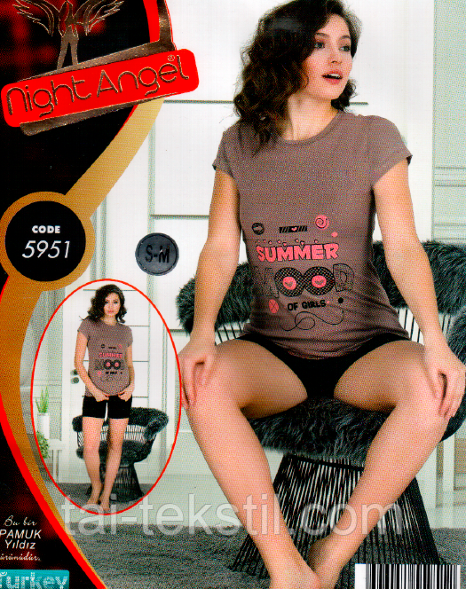 Комплект футболка і шорти якість бавовна з лайкра № 5951