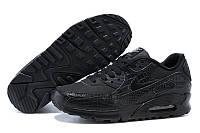 Кроссовки женские Nike Air Max 90 Premium (nike max, найк аир макс, nike air, аир 90, оригинал) черные