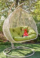 Садовое подвесное кресло качели кокон Double, подвесное кресло яйцо, кресло-качели,подвесные садовые качели