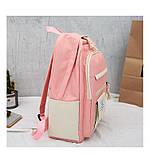 (3в1-как на фото)Рюкзак девушка 4в1 ткань Оксфорд сделанный в Китай спортивный городской стильный опт, фото 6