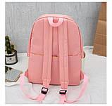 (3в1-как на фото)Рюкзак девушка 4в1 ткань Оксфорд сделанный в Китай спортивный городской стильный опт, фото 7