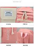 (3в1-как на фото)Рюкзак девушка 4в1 ткань Оксфорд сделанный в Китай спортивный городской стильный опт, фото 8