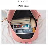 (3в1-как на фото)Рюкзак девушка 4в1 ткань Оксфорд сделанный в Китай спортивный городской стильный опт, фото 10