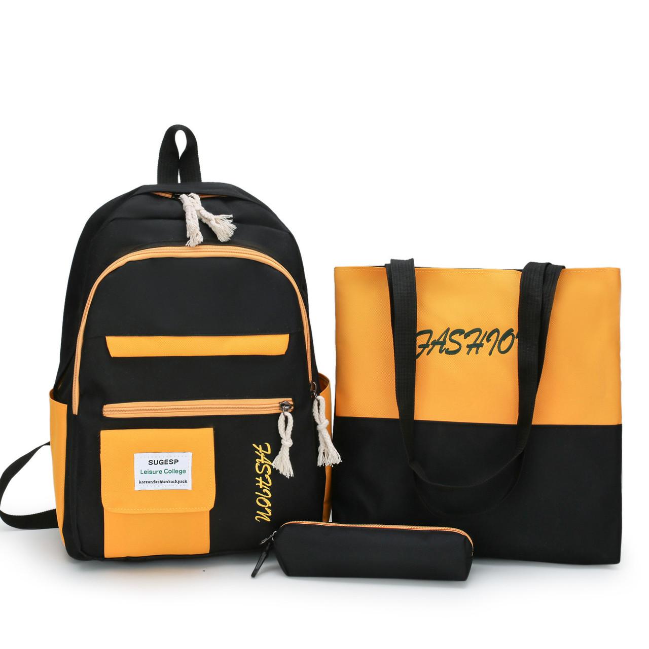 (3в1-как на фото)Рюкзак девушка 4в1 ткань Оксфорд сделанный в Китай спортивный городской стильный опт