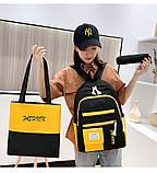 (3в1-как на фото)Рюкзак девушка 4в1 ткань Оксфорд сделанный в Китай спортивный городской стильный опт, фото 2