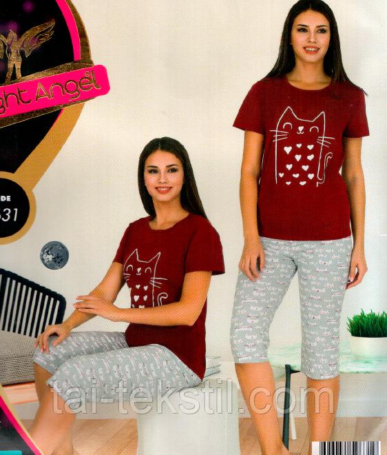 Комплект 2-ка футболка с лосинами качество хлопок с лайкрой Night Аngel № 9631