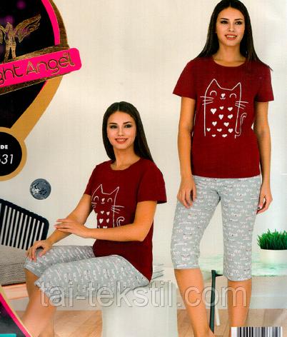 Комплект 2-ка футболка с лосинами качество хлопок с лайкрой Night Аngel № 9631, фото 2