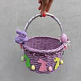 Дитячий пасхальний кошик з зайчиками для дівчаток та хлопчиків, фото 6