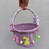 Дитячий пасхальний кошик з зайчиками для дівчаток та хлопчиків, фото 4