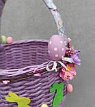 Дитячий пасхальний кошик з зайчиками для дівчаток та хлопчиків, фото 2