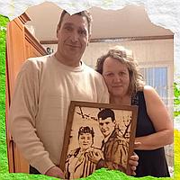 Оригинальный подарок маме Подарки маме (Подарите ей фотопортрет на дереве)