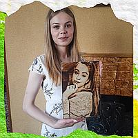Подарки любимой (Подарите портрет на дереве)