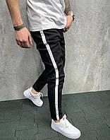 Узкие джинсы мужские с белыми лампасами 2Y