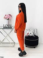 Стильный трикотажный костюм в спортивном стиле с оригинальным принтом с 42 по 48 размер, фото 6