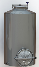 Ємність ЄВПл-Н - 1500л закрита з плоским  дном та нижнім люком